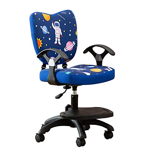 Kids Chair for Girls Pulley can be Locked Ergonomic Adjustable Waist Learning Children's Table and Chair for boy Bedroom Lounge (Blue Sky)