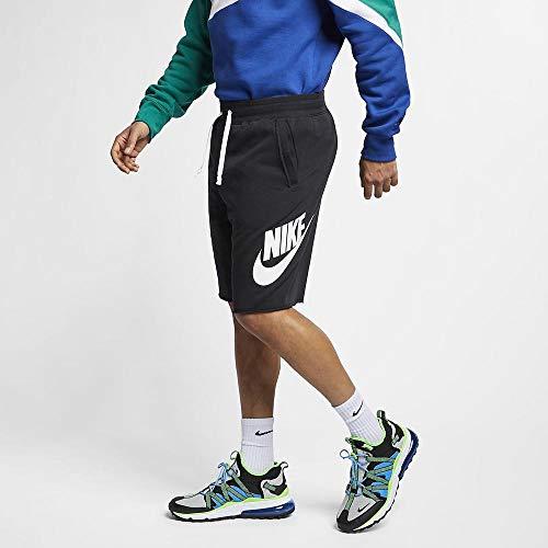 Nike Herren Sport Shorts M NSW He Short FT Alumni, Black/White/XS, AR2375, Black/Black/White/(White)