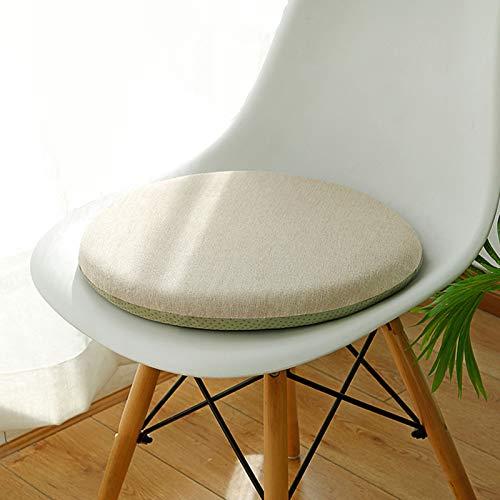 Cuscino rotondo per sedia Cuscino Tondo Cuscini per Sedie Traspirante Morbido Cuscino di Pavimento Cuscini da Sedia per Cucina Giardino Ufficio All'aperto (Fondo antiscivolo,cerniera,Memory Foam)
