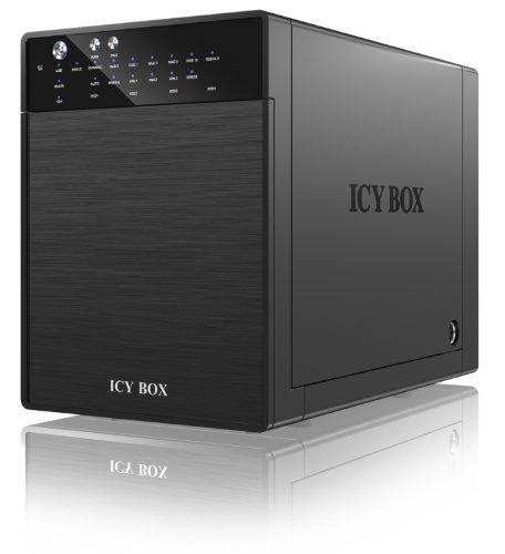 RaidSonic IcyBox IB-RD3640SU3 Festplattengehäuse (4x 8,9 cm (3,5 Zoll), SATA I, SATA II, SATA III, USB 3.0) schwarz