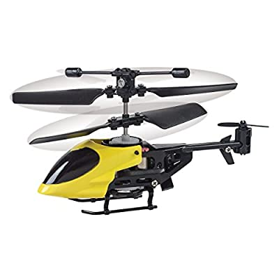 Funtime PL7850 Remote Control Mini Helicopter, Red/Blue/Yellow