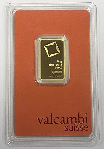 Valcambi Suisse 10g Goldbarren 999.9 Feingold Blister