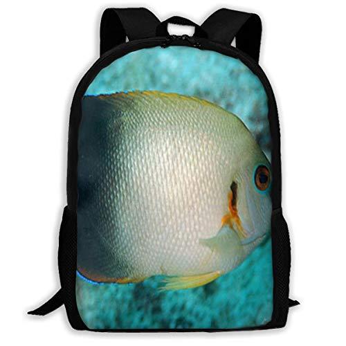 huatongxin Rucksack Pearlscale Angelfish Reißverschluss Schule Büchertasche Tagesrucksack Sporttasche für Mann Frauen