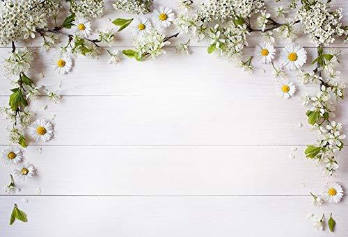 Fondo fotográfico de Retrato de recién Nacido de Flores de Suelo de Madera de Colores Vivos Fondos fotográficos Personalizados para Estudio fotográfico A4 7x5ft / 2,1x1,5 m