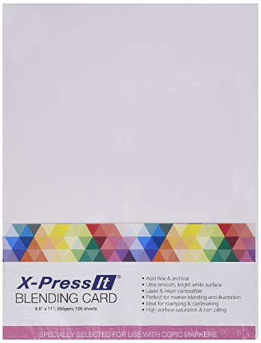 Marker XPBC 8-1/2-Inch by 11-Inch Express Blending Card, White, 125 Per Pack. - New