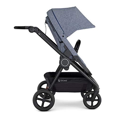 Stokke Beat Compact Urban Infant Baby Stroller Travel System (Blue Melange)