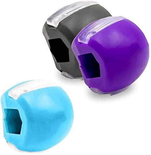 mengqiqi Gesichtsstraffer Ball Kiefer-übungsgerät Jawline Trainer Ball Men Geeignet Für Gesicht, Gesichtsmuskeln Trainieren (3color)