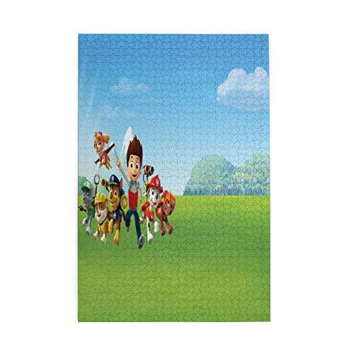 Rompecabezas de la Patrulla Canina para adultos de 1000 piezas para niños y adultos juego desafiante
