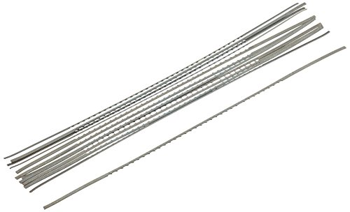 Scheppach 88002702 Sägeblätter 12 Stk, für Holz Z/Z11 133/1,25/0,45mm f. Dekupiersäge