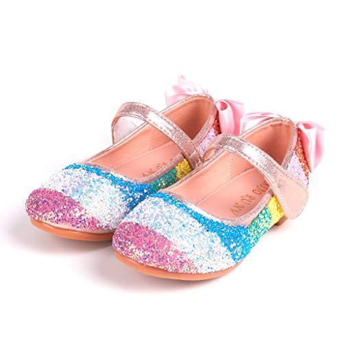 ELECTRI Enfant Sandales Bébé Chaussure Sandales Scratch Fermé Chaussure d'été Ballerine Princesse Paillettes Déguisement Halloween Cendrillon Raiponce