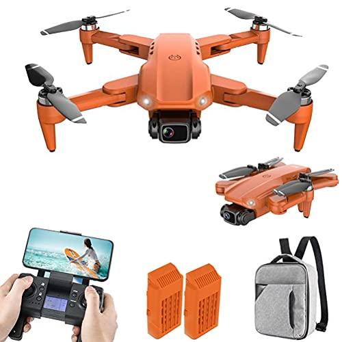 JJDSN Drone con cámara 4K HD para Adultos, Quadcopter RC Plegable, Drones con Mando a Distancia Recargable, Quadcopter con Motor Brushless, FPV Live Video, 2 baterías y Mochila