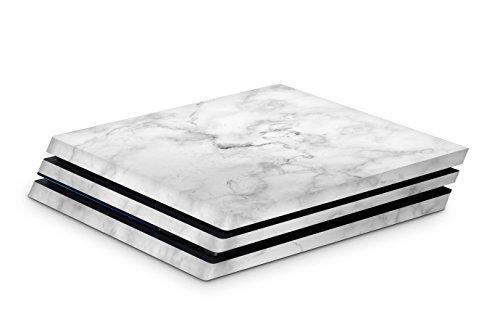 Skins4u Aufkleber Design Schutzfolie Vinyl Skin kompatibel mit Sony PS4 Playstation 4 Pro marmor weiss
