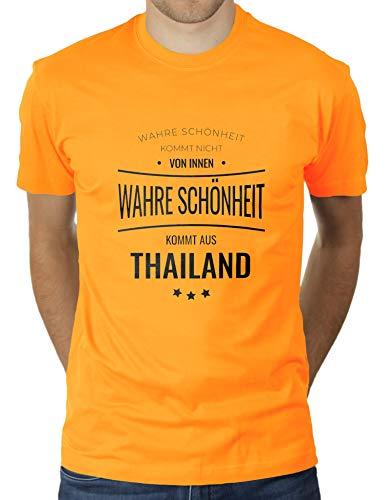 La verdadera belleza proviene de Tailandia, no desde el interior, Tailandia, Tailandia, camiseta para hombre de KaterLikoli. oro amarillo M