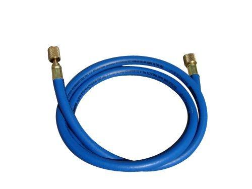 Appion MH380006EAB 3/8' Diameter Hose, 3/8' FL to 1/4' FL Vacuum Certified Refrigerant Hose, 6', Blue