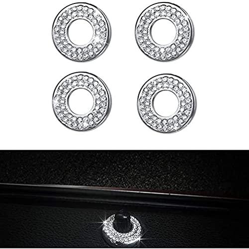 YFBB 4 Juegos de Tapas de pasadores de Cerradura de Puerta de Cristal Brillante, para Mercedes Benz W204 W205 W213 X204 C Clase E GLC AMG Cubre calcomanías Adhesivas para Ventanas Interiores