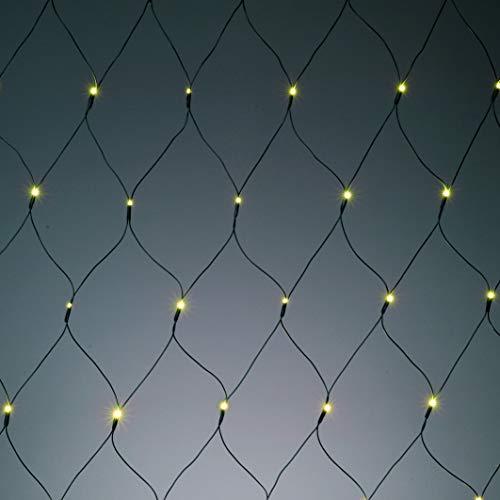 Hellum 577853 LED Lichternetz 160 LEDs warmweiß / 2x2 m/innen & außen/Zuleitung 8 m grün
