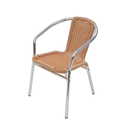 アルミチェア 4脚セット 人工ラタン ダイニングチェア リゾートチェア ロビーチェア ガーデンチェア ラタンチェア スタッキングチェア 会議椅子 ラウンジチェア 軽量で持ち運び簡単 ビーチチェア スタッキング アウトドア ラタン (人工) オレンジ 白 オ