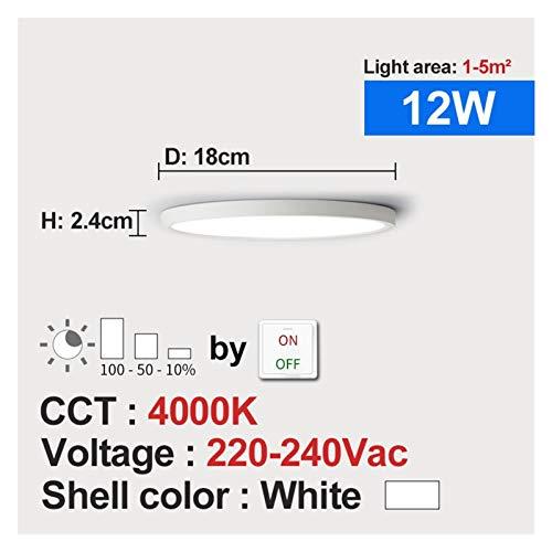 Sencillez Lámpara de techo de montaje en descarga Lámpara de techo LED Dimmable 220V 12W 18W 4000K para la cocina Dormitorio Sala de estar Baño Moderna lámpara de techo para el pasillo de la sala de e