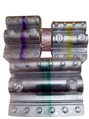 Kit 240 blister per monete euro (3x80) cilindri portamonete in PVC (80 pezzi per 1 euro, 2 euro, 50 centesimi) + 1 nastro adesivo trasparente omaggio