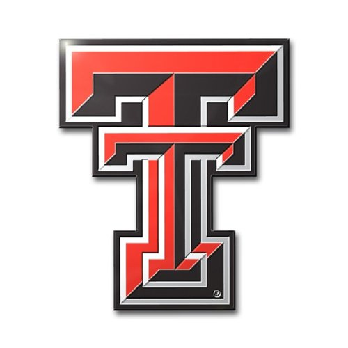 Patch Collection Texas Tech Red Raiders Colored Aluminum Car Auto Emblem