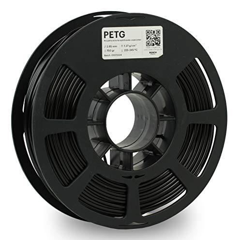 KODAK PETG Filament 2.85mm for 3D Printer, Black PETG, Dimensional Accuracy +/- 0.02mm, 750g Spool (1.7lbs) PETG Filament 2.85 Used as 3D Filament Consumables to Refill Most FDM Printers