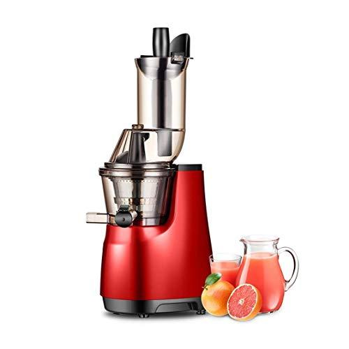 Completamente automático Función jugo Extractor Licuadora Masticating Rojo inversa fácil de limpiar fría Juicer de la prensa de la máquina de acero inoxidable con filtro de frutas y jugo de vegetales