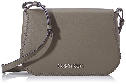 Calvin Klein Damen Mellow Saddle Bag Umhängetasche, Grün (Camouflage), 5x15x4 cm