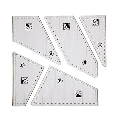 PYLTT Plantilla de corte acolchado, regla de la máquina de coser, máquina de coser DIY, regla de patchwork de mano, regla de corte multifuncional, herramientas de costura de patchwork