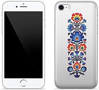 Etui na Apple iPhone 8 - etui na telefon Crystal Design - Łowicki wzór - guma case obudowa silikonowa wzory