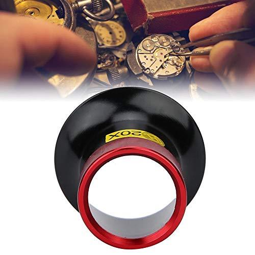 20X Kunststoff-Okularlupe, Uhrenlupe für Schmuck und Reparatur von Uhrenelektronik, tragbare Lupe für Uhrenreparatur und Schmuckbewertung
