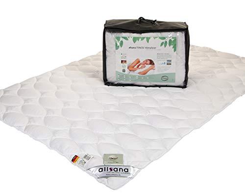allsana Tencel® Klimafaser Leichtsteppbett 155x220 cm, Lyocell Sommerdecke für Allergiker, waschbar bei 60°C, Tencel Bettdecke bei Allergie