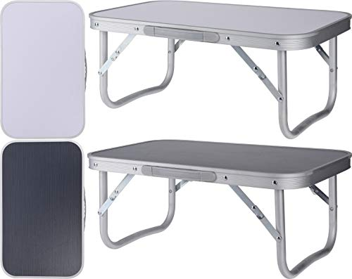 Riyashop Aluminium campingtafel, mini-klaptafel, bijzettafel, opvouwbaar, gemakkelijk inklapbaar