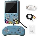 MiRUSI G5 Consola de Juegos portátil de 3 Pulgadas, Mini Consola portátil Retro Consola de Juegos NES FC Consola de Videojuegos 500 Juegos compatibles con Salida de TV (Azul)