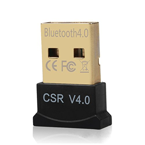 DAYKIT Mini USB Bluetooth 4.0 Dual Mode Adapter Dongle for Windows 10 8 7 Vista XP 32/64 Bit Linux Black