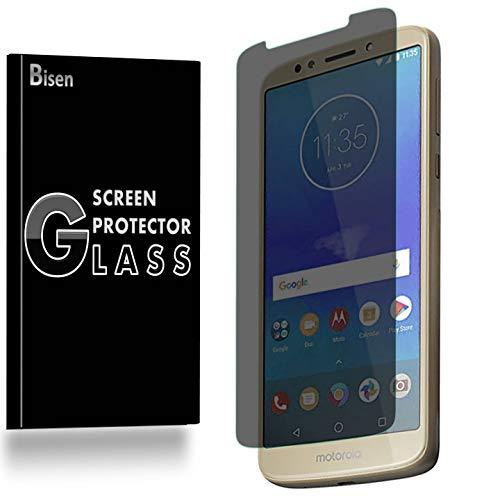 [BISEN] for Motorola Moto E5 Plus, Motorola Moto E5 Supra Privacy Screen Protector Tempered Glass, Anti-Spy Screen, Anti-Scratch, Anti-Shock, Bubble Free, Lifetime Protection & Replacement
