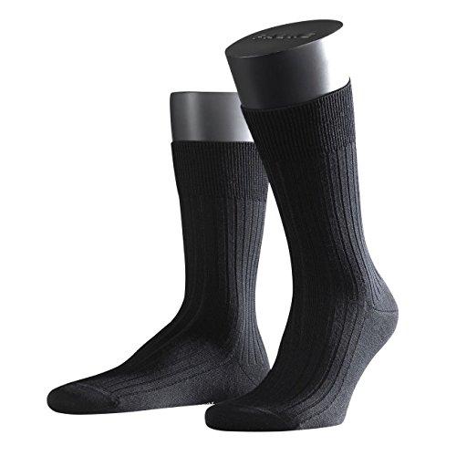 FALKE City Herren Socken Bristol Pure 2er Pack, Größe:43/44;Farbe:black