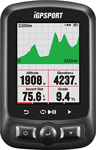 Fahrradcomputer GPS iGPSPORT iGS618 mit Straßenkarte Navigation Navi Fahrradcomputer Funk Kabellos Kompatibel mit dem Trittfrequenzsensor Geschwindigkeitssensor Herzfrequenzsensor