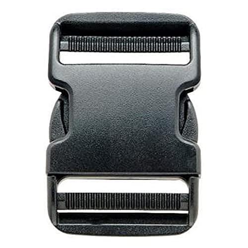 Prym - Fibbia a scatto, in plastica, dimensione: 50 mm, colore: Nero