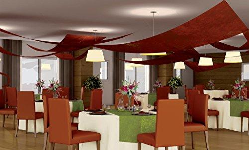 Set 3 tentures de plafond Voile triangle, CHOCOLAT