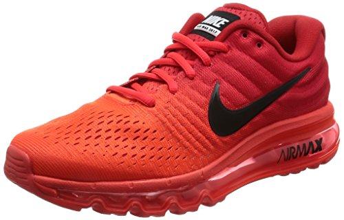 Nike Mens Air Max 2017, Bright Crimson / Black, 10 M US