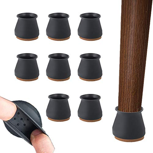 Protectores de suelo de silicona para silla – 24 protectores para patas de silla con almohadillas...