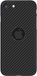 iPhone SE (2020) Case Cover Carbon Fiber Design TPU Black Soft Slim Flexible Shock Absorbent Protective Case Cover for iPh...