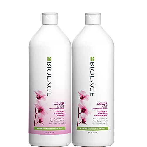 BIOLAGE Colorlast Shampoo & Conditioner Bundle | Helps Protect Hair & Maintain Vibrant Color | Paraben-Free | For Color-Treated Hair | 33.8 Fl. Oz.