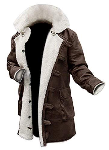 EU Fashions Dark Kinght Rises Tom Hardy Bane Shearling - Abrigo de Piel