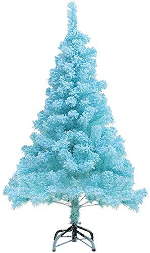 WEIGE Albero di Natale Artificiale di Alta qualità con Cerniera da 90 cm, Albero di Natale in Fibra Ottica Illuminato con luci a LED e Decorazioni Natalizie, Staffa in Metallo di Facile Montaggio,