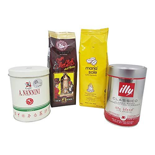 Probierset Espresso gemahlen der Spitzenklasse, 1 kg - unser Bestseller!