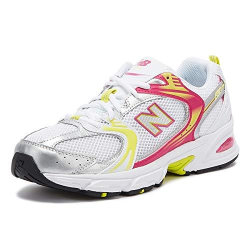 New Balance 530 Damen Weiß/Rosa/Gelb Sneakers-UK 8 / EU 41.5