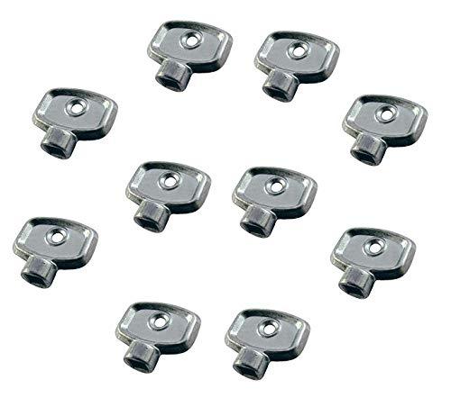 Válvula de purga de radiador, llave de calefacción, ventilación de aire, herramienta de fontanería cuadrada para purgar válvulas de aire, paquete de 10