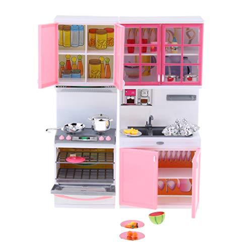 Homyl Kochset Küchenspielset mit Mikrowelle Geschirrspüler Spüle und Küchenschrank usw. für Kinder Rollenspiel