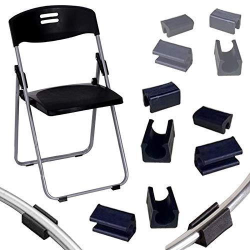 JINAN 4pcs / lot antideslizante patas de los muebles de almohadillas de plástico pata de la silla Caps calcetín Taburete de apoyo frontal Tubo de inclinación en forma de U cojín trasero 25 mm abrazade